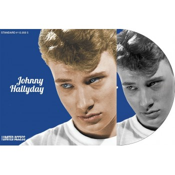 JOHNNY HALLYDAY - PICTURE-DISC BLEU - TU PARLES TROP