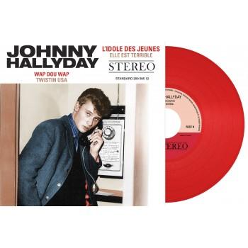 Johnny Hallyday - 45 Tours - L'idole Des Jeunes (Vinyle Rouge)