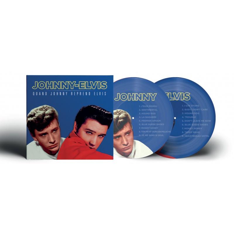 33 Tours - Johnny Hallyday & Elvis Presley - Picture Disc - Quand Johnny Reprend Elvis - Picture Disc (Vinyle)