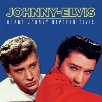 Johnny / Elvis - 33 Tours - Picture Disc - Quand Johnny Reprend Elvis - 2ème Édition Bleue