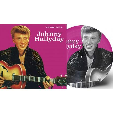 Johnny Hallyday - 33 Tours - Si Tu Restes Avec Moi (Picture-Disc Violet)