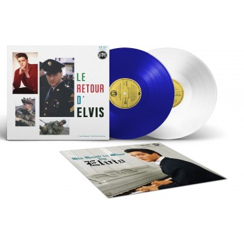 Elvis Presley - 33 Tours - Le Retour D'Elvis / His Hand In Mine (Vinyles Bleu & Blanc)