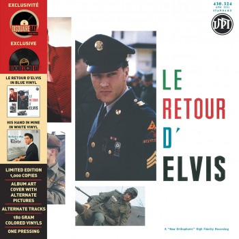 ELVIS PRESLEY - Le Retour D'Elvis / His Hand In Mine ( 33 Tours Vinyles Bleu & Blanc)