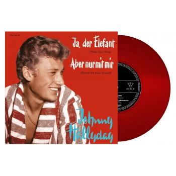 Johnny  Hallyday - 45 Tours - Ja, Der Elefant - EP Pochette Allemande (Vinyle Rouge)