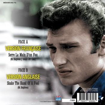 Johnny Hallyday - 45 Tours - Version Française/Version Etrangère N°01 (Picture Disc)