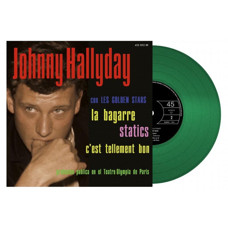 Johnny Hallyday - 45 Tours - La Bagarre - EP Pochette Espagnole (Vinyle Vert)
