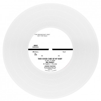 Johnny Hallyday - 45 Tours - Caravan Of Lonely Men - EP Pochette Américaine (Vinyle Blanc)
