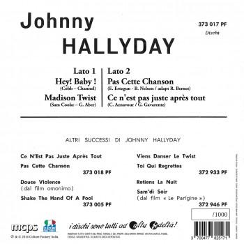 Johnny Hallyday - 45 Tours - Madison Twist - EP Pochette Italienne (Vinyle Rouge)