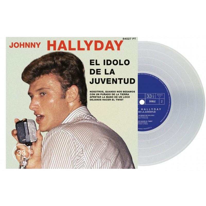 Johnny Hallyday - 45 Tours - El Idolo De La Juventud - EP Pochette Argentine (Vinyle Transparent)