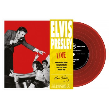 Elvis Presley - 45 Tours - The Signature Collection N°04 - Live (Vinyle Rouge)