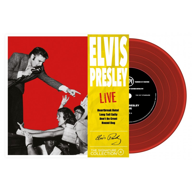 ELVIS PRESLEY  - 45 Tours - The Signature Collection N°04 - Live (Vinyle Rouge)