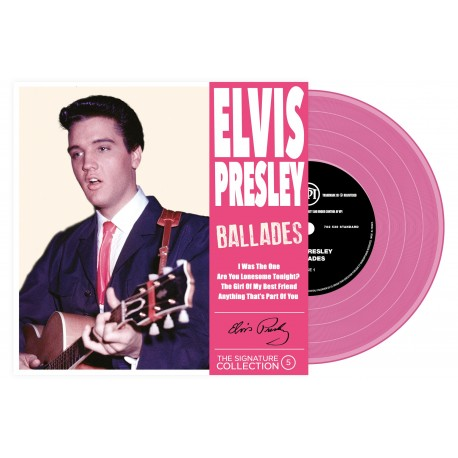 Elvis Presley - 45 Tours - The Signature Collection N°05 - Ballades (Vinyle Rose)