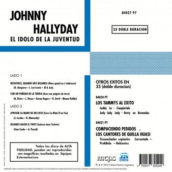 Johnny Hallyday - El Idolo De La Juventud - EP Pochette Argentine