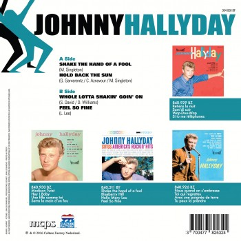 Johnny Hallyday - Shake The Hand Of a Fool - EP Pochette Danoise
