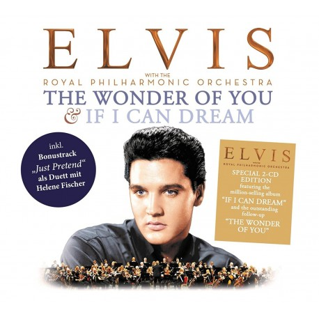 ELVIS ROYAL PHIHARMONIQUE ORCHESTRA THE WONDER OF YOU / IF I CAN DREAM DOUBLE CD