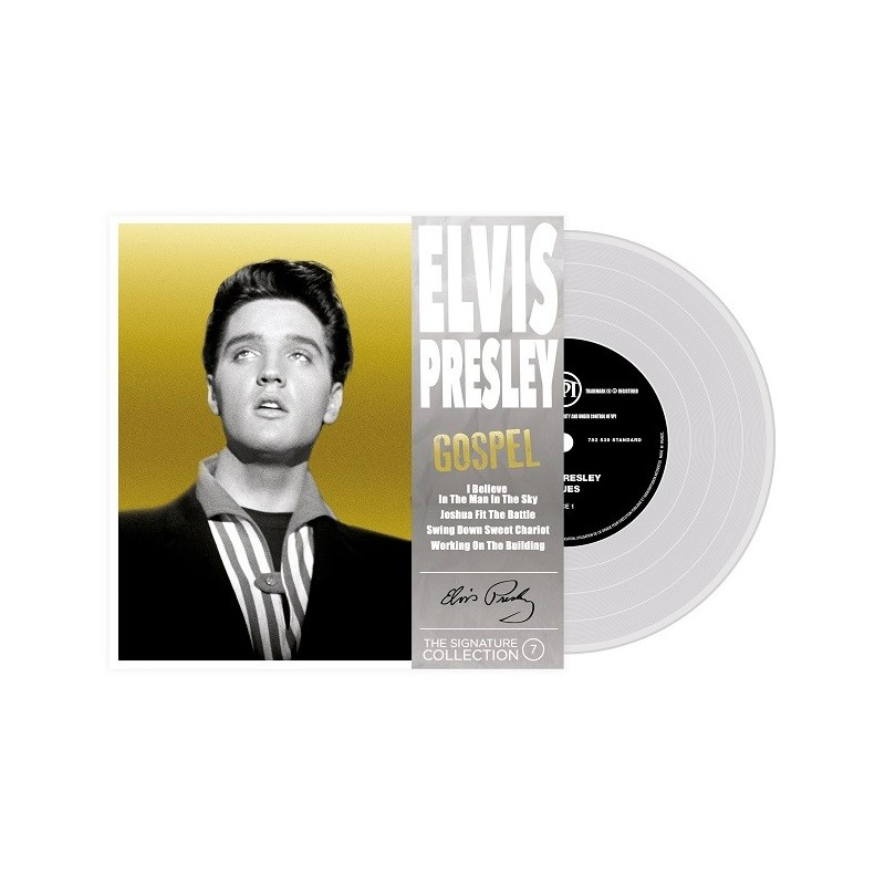 ELVIS PRESLEY - 45 Tours - The Signature Collection N°07 - Gospel (Vinyle Transparent)
