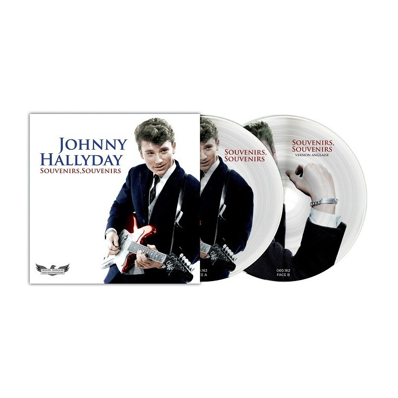 Johnny Hallyday - 45 Tours - Picture Disc N°10 Version Française/Version Etrangère