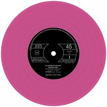 Johnny Hallyday - 45 Tours - El Madison De Hallyday - EP Pochette Espagnole (Vinyle Rose)