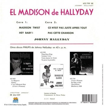 Johnny Hallyday - CD - El Madison De Hallyday - EP Pochette Espagnole