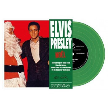 ELVIS PRESLEY - 45 Tours - The Signature Collection N°10 - Noël (Vinyle Vert)