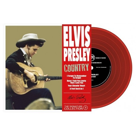 Elvis Presley - 45 Tours - The Signature Collection N°09 - Country (Vinyle Rouge)