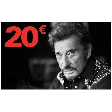 Carte Cadeau Johnny 20 €