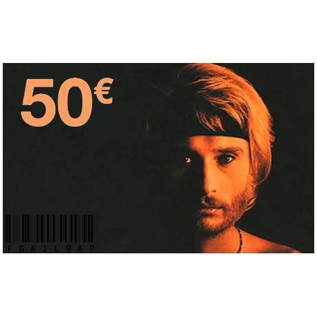 Carte Cadeau Johnny 50 €