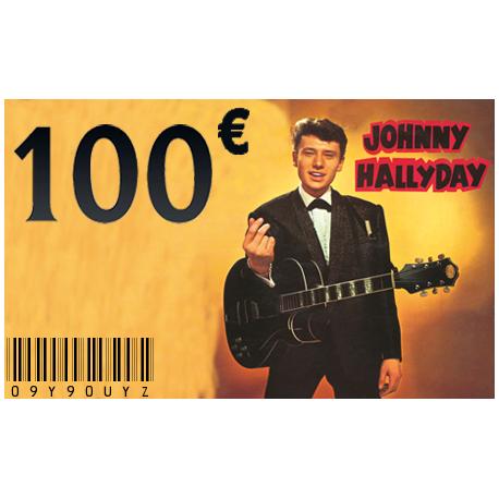 Carte Cadeau Johnny 100 €