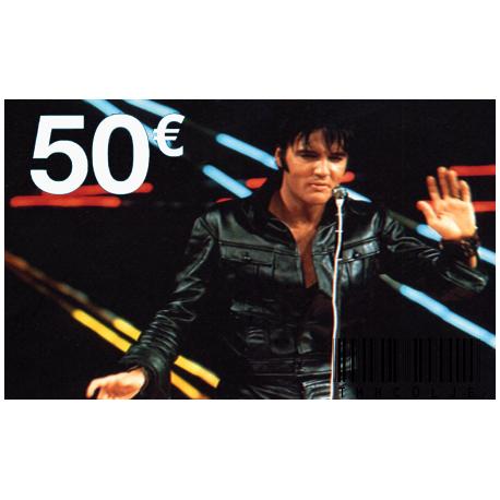 Carte Cadeau Elvis 50 €