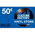 Carte Cadeau Culture Factory 50 €