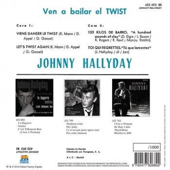 Hallyday, Johnny - 45 Tours - 100 Kilos De Barro - EP Pochette Espagnole (Vinyle Orange)