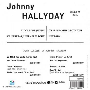 Johnny Hallyday - 45 Tours - L'idole Des Jeunes - EP Pochette Italienne (Vinyle Vert)