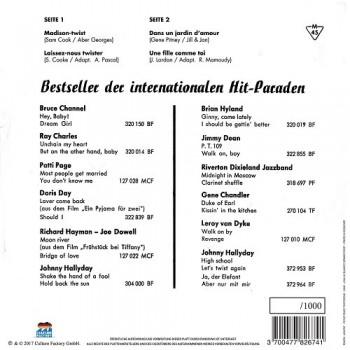 Johnny  Hallyday -      45 Tours - Madison Twist - EP Pochette Allemande (Vinyle Rose)