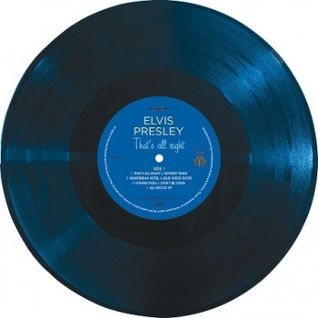 Elvis Presley - 33 Tours - That's All Right (Vinyle Bleu) + CD