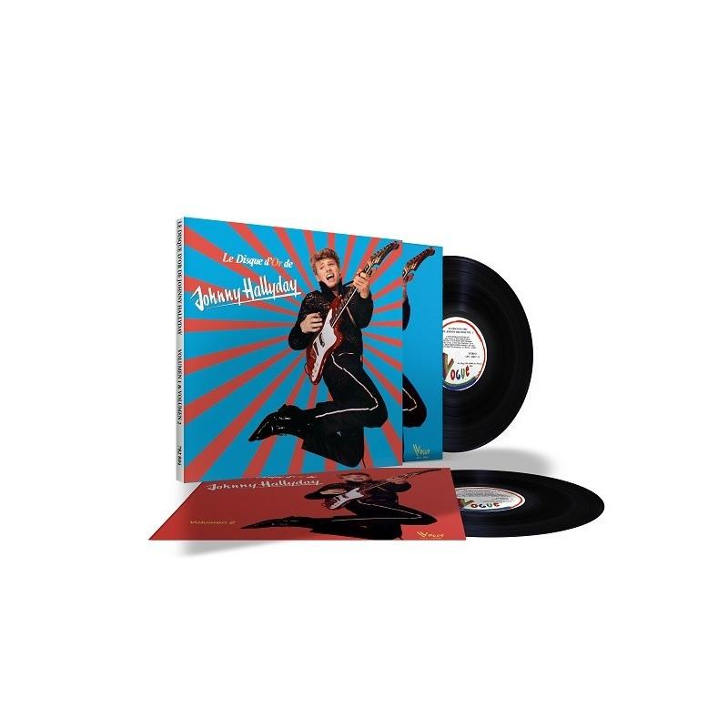 Johnny Hallyday - Coffret 33 Tours - Vogue Made In Venezuela - Le Disque D'or (2x Vinyle Noir)
