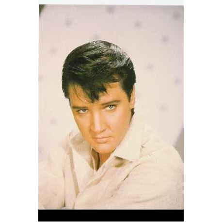 Elvis Carte Postale White Up Close