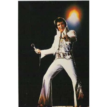 Elvis Carte Postale White Jumpsuit