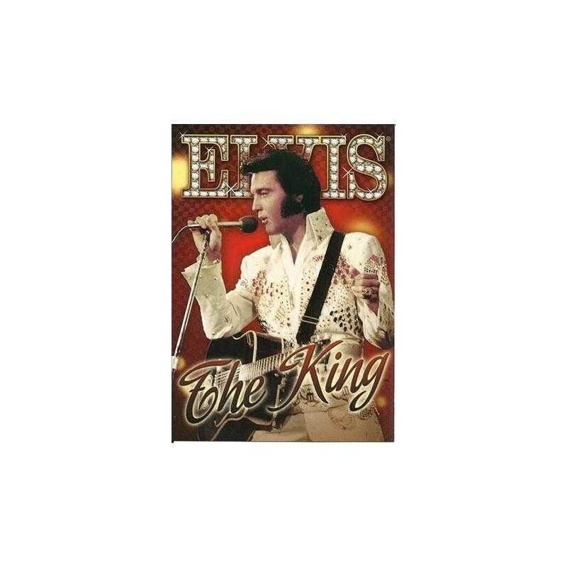 Elvis Carte Postale The King Red Background