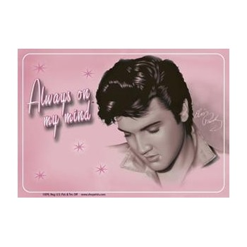 Elvis Carte Postale Pink Looking Down