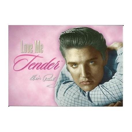 Elvis Carte Postale Love Me Tender Pink