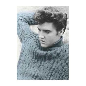Elvis Carte Postale Blue Sweater