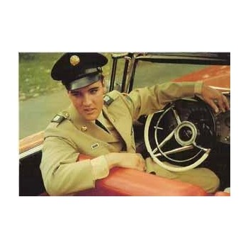 Elvis Carte Postale Army Uniform