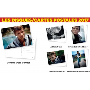 Johnny Hallyday - Disques/Cartes Postales (Lot de 5)