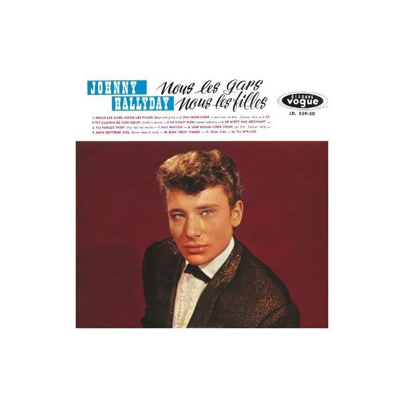 Johnny Hallyday - LP N°04 - Nous Les Gars, Nous Les Filles ( CD Vinyl Replica)