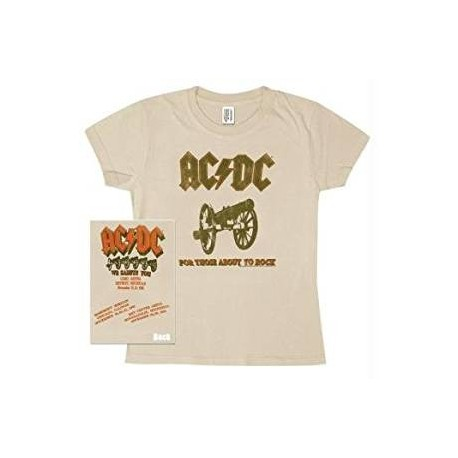 T-Shirt AC/DC - For Those About To Rock - Femme - Medium