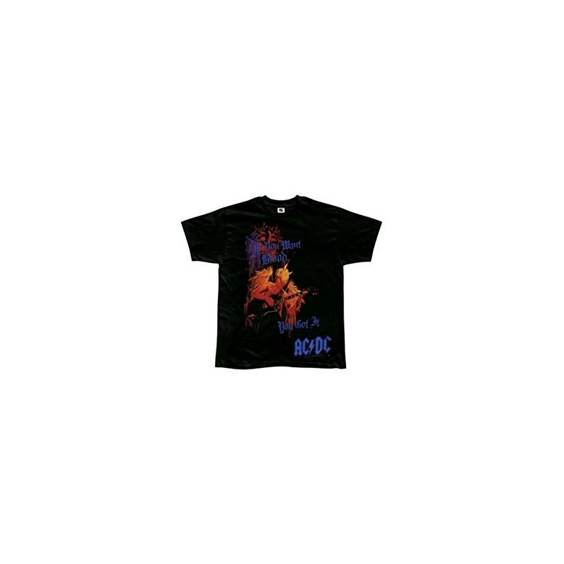 T-Shirt AC/DC - Want Blood All Over - Homme - Large