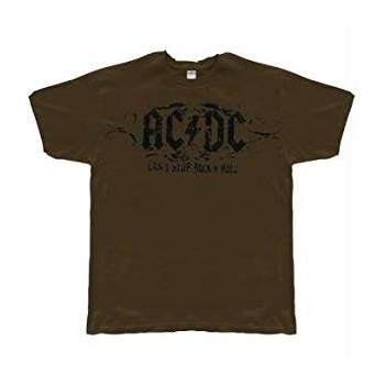 T-Shirt AC/DC - Cant Stop Rock N Roll Soft - Homme - Large