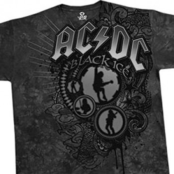 T-Shirt AC/DC - Black Shadow - Homme - Large