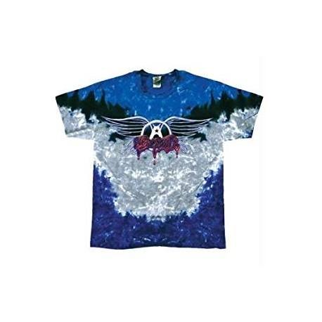 T-Shirt Aerosmith - Drip Logo Tie Dye - Homme - Large