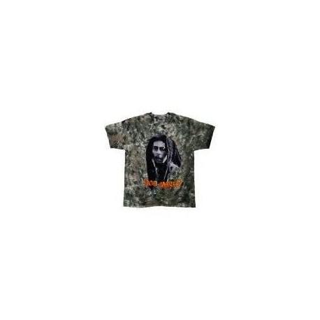 T-Shirt Bob Marley - Look Tie Dye - Homme - Large